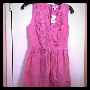 J crew cotton eyelet dress, NWT, size 00.